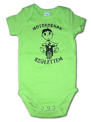 Almazöld baba body: Motorosnak születtem - Csajok a motoron