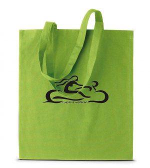 Csajok a motoron zöld motoros táska hétköznapi bevásárláshoz