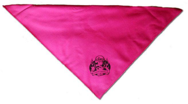 Csajok a motoron rózsasazín háromszög kendő