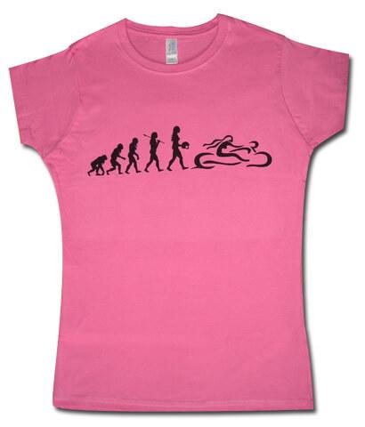 Rózsaszín Csajok a motoron evolúció póló