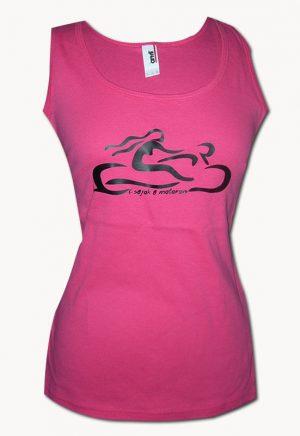 Csajok a motoron rózsaszín atléta motoros nővel