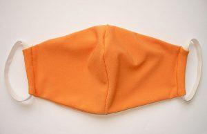 Mosható textil maszk narancssárga