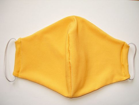 sárga mosható textil maszk