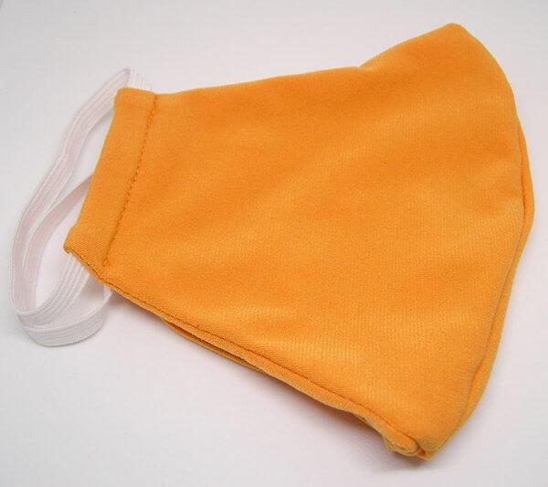 Dupla rétegű mosható textil arcmaszk citromsárga színben