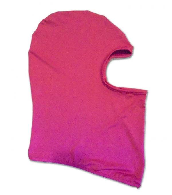 Rózsaszín egyszemes maszk bukósisak alá balaklava
