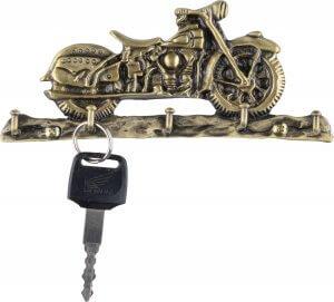 Bronz motoros fali kulcstartó 5 akasztóval