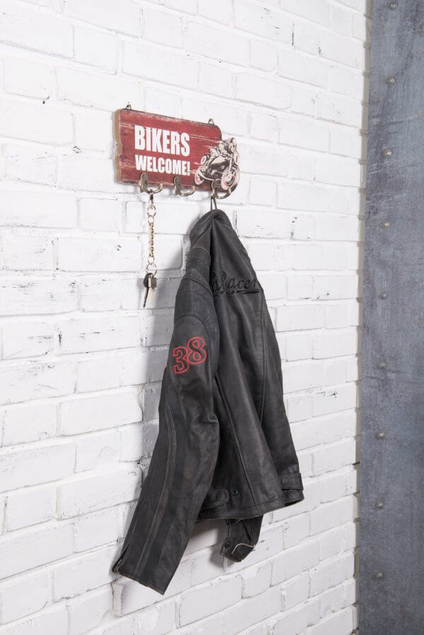 Bikers Welcome retro kabát és kulcsakasztó